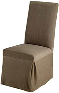 sure fit stretch pique dining room chair slipcover taupe sf35573