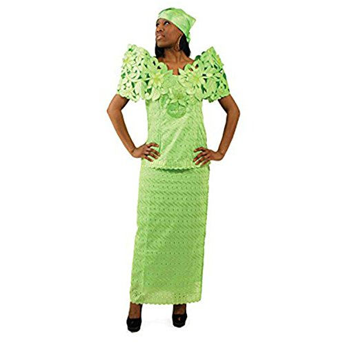 Butterfly Lace Skirt Set: Lime 14 by utopia africa