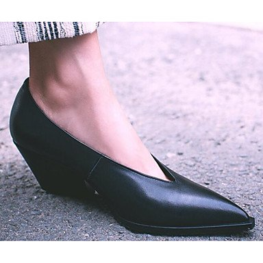 3 Spring Real US6 5 7 CN37 Comfort 5 Comfort Casual RTRY Heels Women'S 5 1In 4In Black UK4 Leather EU37 1 wBxtgtPOn
