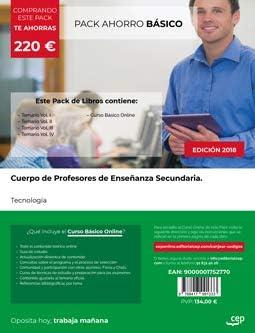 PACK AHORRO BASICO CUERPO PROFESORES ENSEÑANZA SECUNDARIA: Amazon.es: AA.VV: Libros
