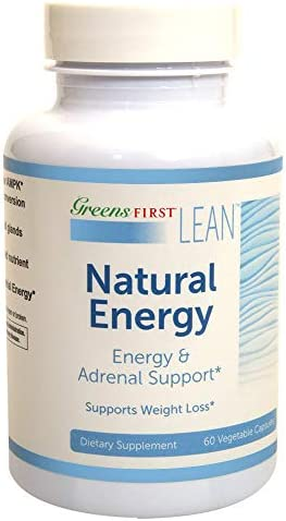 Greens First Lean Natural Energy Dietary Supplement Energy and Adrenal Support Supplement Dietary Supplements for Weight Loss Nutritional Supplements 60 Capsules