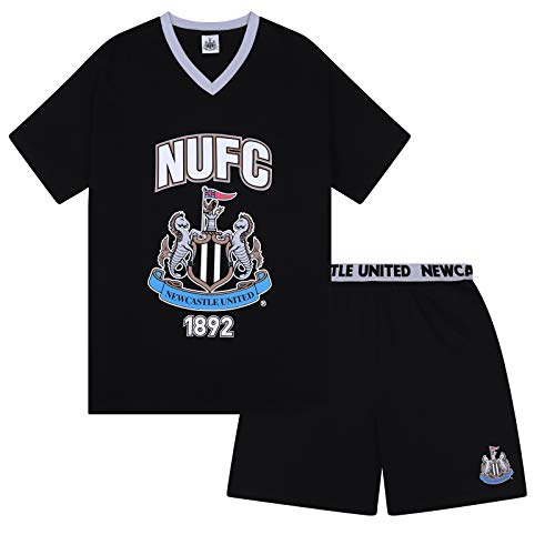 Newcastle United FC Official Gift Mens Loungewear Short Pajamas Medium