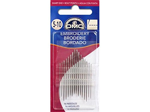 DMC 1765-5/10 Embroidery Hand Needles, 16/pkg