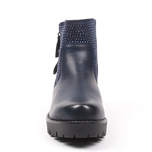 Ideal Shoes, Damen Stiefel & Stiefeletten Marine