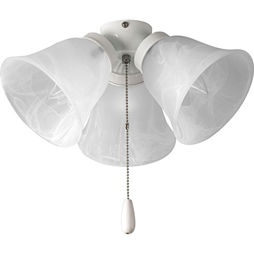 Progress Lighting P2642-30 3-Light Universal Fan Light Kit, White ()
