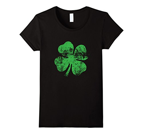 Womens The Coolest Faded Shamrock St. Patrick's Day T-Shirt Large (St Patricks Day Shirts For Women)