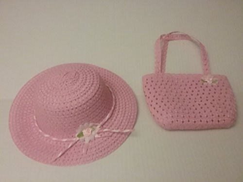Girls Tea Party Hat and Purse Dress Up Set - Pink