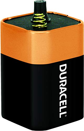 Duracell - CopperTop 6V 908 Alkaline Lantern Batteries with Spring Terminals - long lasting, 6 Volt battery for household and business - 1 count (Lantern Duracell Light)