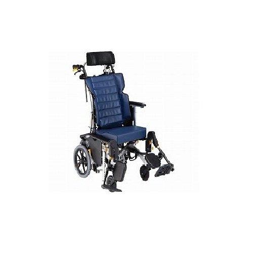 【リクライニング車椅子】マイチルトコンパクト-3D MH-CR3D B00H8FS2YG 紺ビニール 紺ビニール