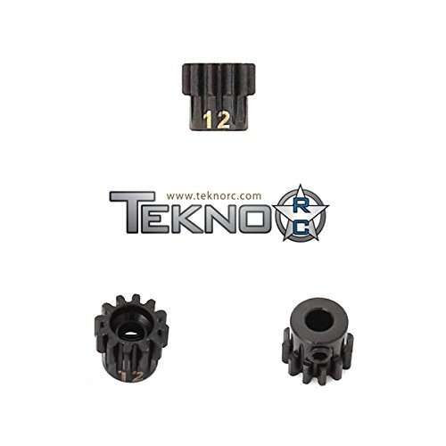 TEKNO RC LLC M5 Pinion Gear, 12T, MOD1, 5mm Bore, M5 Set Screw