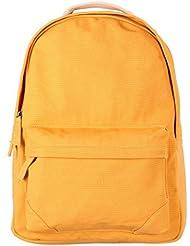 Tom Clovers Canvas Backpack Rucksack Weekender Bag Laptop Bag School Backpack Yellow