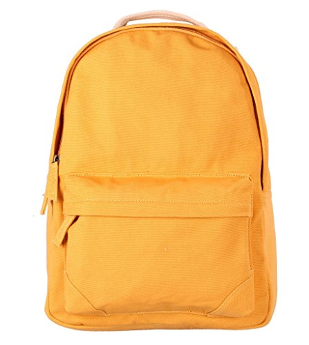 Tom Clovers Canvas Backpack Rucksack Weekender Bag Laptop Bag School Backpack Yellow