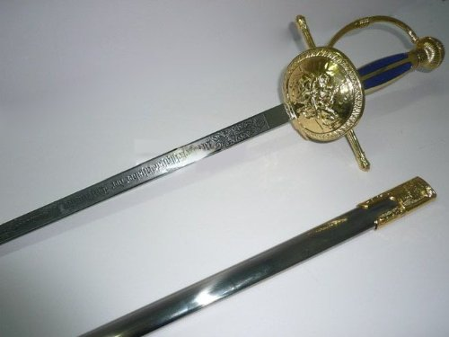 IXOTE RAPIER MUSKETEER FENCING SWORD SPHERE BOWL GOLD 36