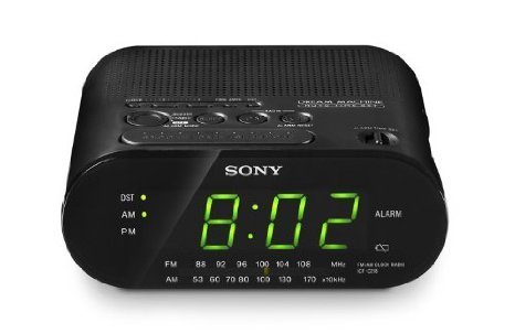 Clock Radio in Black by Sony