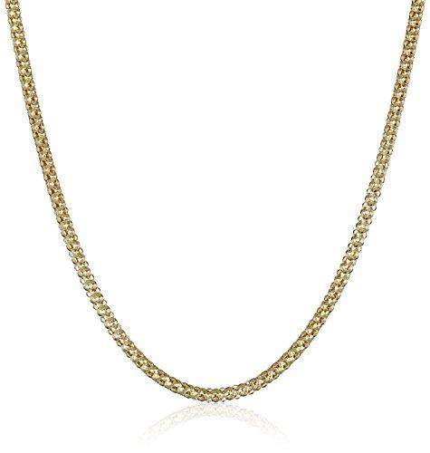 14k Yellow Gold Italian 1.5mm Popcorn Chain Necklace, 24