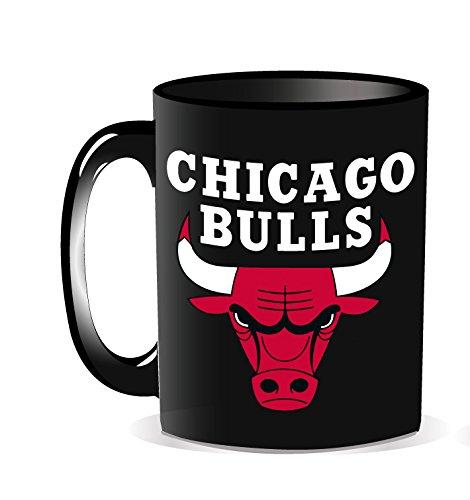 Noir La Plume Dor/ée Mug Logo Chicago Bulls NBA Boite individuelle Mixte Enfant