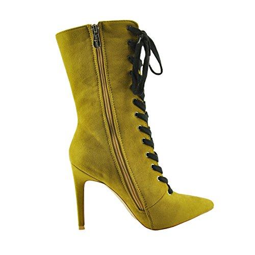 21ef4d32230 CAPE ROBBIN Gigi 11 Women s Shoes Faux Suede Lace Up Boots KM2284 (9