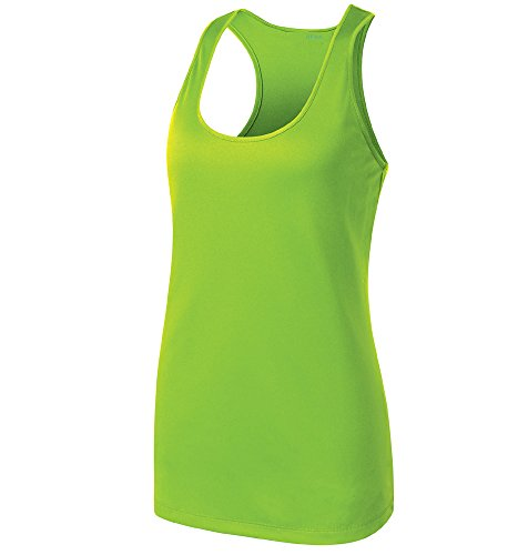 Opna Racerback Tank Tops for Women Moisture Wicking Workout Shirt Sizes XS-4XL Lime-M (Tank Green Lime Racerback)