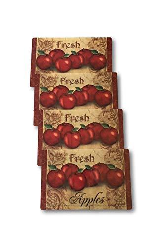 Apple Rustic (Plum Nellie's Treasures Vinyl Placemats Set of 4 - Apples, Fresh Apples, or Fruit Harvest - 17.5