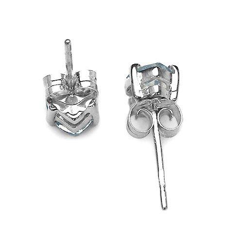Bijoux-Schmidt-Rose zircon Boucles d'oreilles en argent- rhodié 1,00 carat