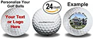2 dozen 24 Personalized Titleist Prov 1 Refinished Golf Balls Upload Your Own Text Or Image