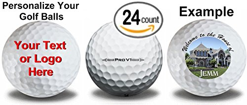 2 dozen 24 Personalized Titleist Prov 1 Refinished Golf Balls Upload Your Own Text Or Image ()
