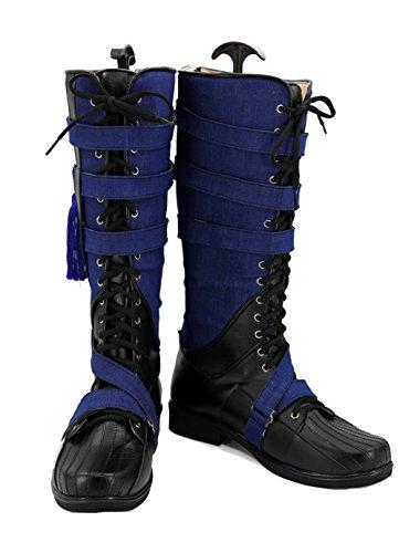 Veribuy Halloween Men Hero Cosplay Shoes Guardian Costume Blue Black Cosplay Boots