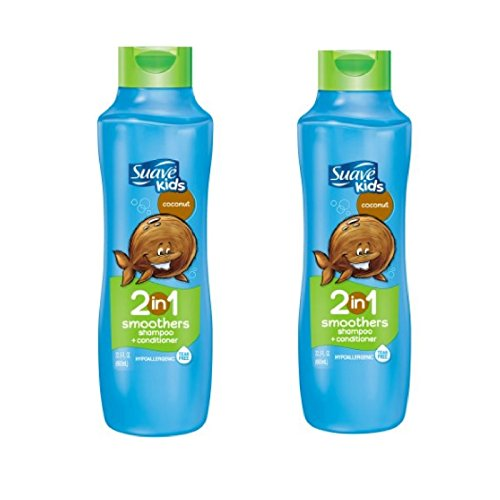 Shampoo Suave Coconut (Suave Kids Coconut Smoothers 2 in 1 Shampoo and Conditioner)