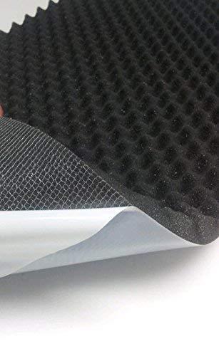 Espuma Acú stica como Acú stico Noppenschaumstoff - Autoadhesiva - Aprox. 49x49x3cm ( Anth / Negro) Akustikelemente Ordenador Pur-Schaumstoff mail2mail