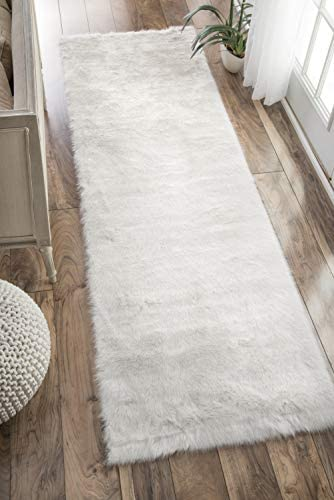 nuLOOM Faux Sheepskin Cloud Solid Soft and Plush Shag Large Area Rug