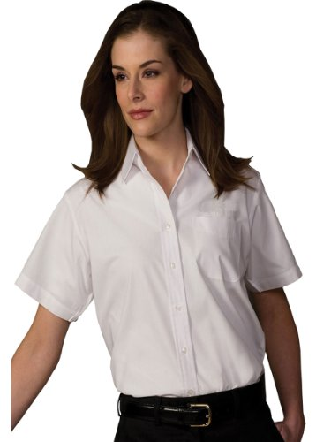 (Edwards Garment Women's Short Sleeve Value Broadcloth Shirt, White, XX-Large)