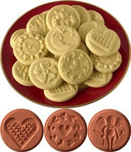 JBK Pottery Cookie Stamp Set - Love