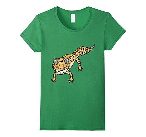Women's Cute Smiling Leopard Gecko Lizard Cartoon T-Shirt...