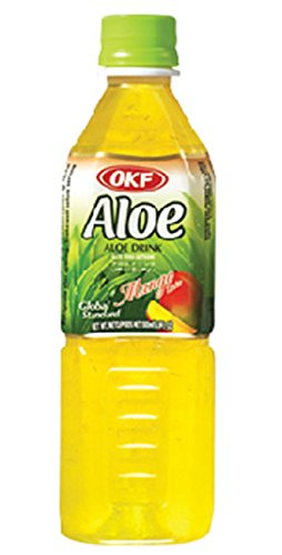 OKF Aloe Mango Drink 500ml 16.9 ounce bottles