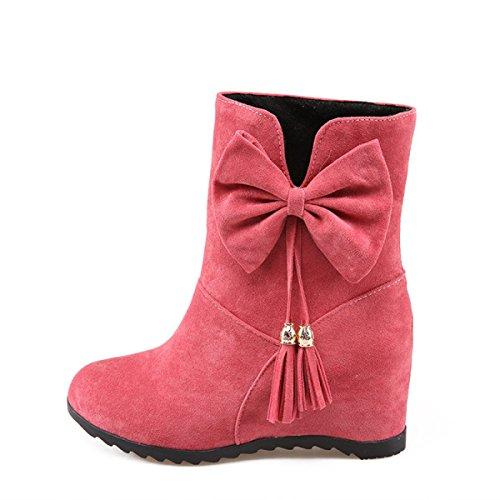 Wildleder Schuhe Der Bogen Peeling Winter WJNKK Funky Innerhalb Rubber Damen Pink Zunahme Stiefel Herbst Faux znvcqqWfS
