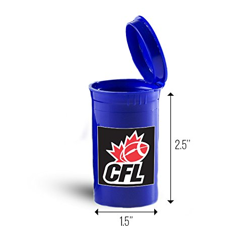 Canada Football CFL Sport Drug Case, Pill Organizer Box ID 3300B