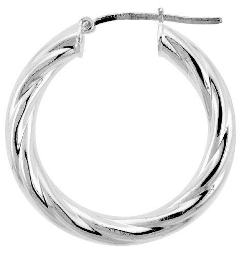 Sterling Silver Twisted Tube (1