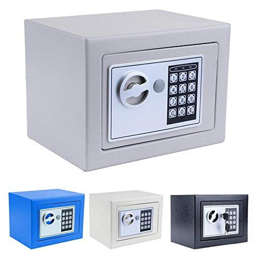 Hosmat Electronic Digital Security Safe Box, Fireproof Wall-Anchoring Safe Deposit Box for Home Office Hotel Business Jewelry Money (Silvery) by balanu (Image #2)