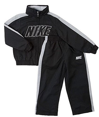 Price comparison product image Nike Kid Little Boy Hidden Hood 2-Piece Windbreak Jacket and Pants Set Black Size 5