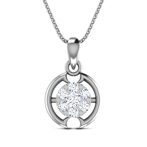 14 K Or jaune 0.12 CT TW Round-cut-diamond (IJ | SI) Pendentif