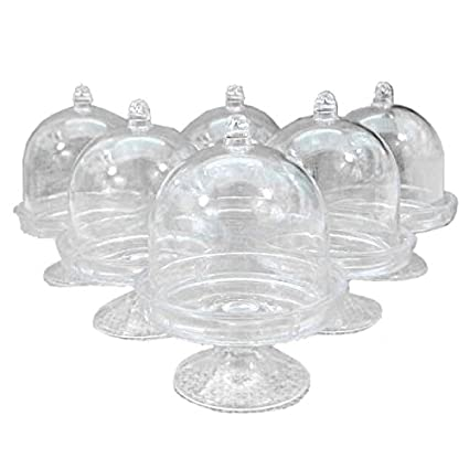 SODIAL 12x Mini Cake Stand Cupcake box Wedding Party Plastic Candy Box Transparent  sc 1 st  Amazon.com & Amazon.com: SODIAL 12x Mini Cake Stand Cupcake box Wedding Party ...