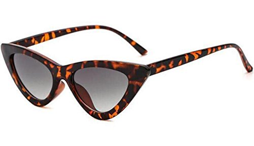 Clout Goggles Cat Eye Sunglasses Vintage Mod Style Retro Kurt Cobain Sunglasses (Leopard& tea, 51)