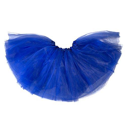[My Lello Little Girls Tutu 3-Layer Ballerina Royal Blue (9 mo - 3T)] (Tutu For Toddler)