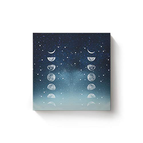 EZON-CH Canvas Wall Art Square Oil Painting Modern Artworks Office Home Decor,Cool 3D Galaxy Universe Starry Sky Printed Canvas Artworks,Stretched by Wooden Frame,Ready to Hang,28 x 28 Inch