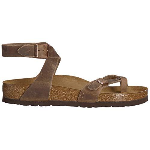 Birkenstock Women's Yara Leather Ankle-Strap Sandal,Habana,37 EU/6 M US -