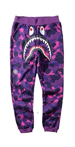bacaima Unisex Sports Ape Bape Casual Sweatpants Men Trousers Athletics Sweatpants Shark Head Jaw Shorts Rap Sweatpants