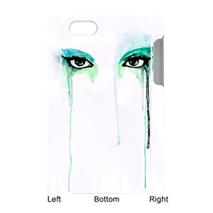 3D Bumper Plastic Case Of Watercolor customized case For Iphone 4/4s