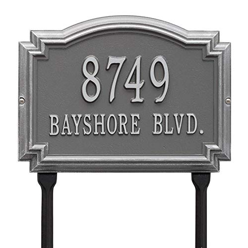 Whitehall Customized Williamsburg Lawn Address Plaque 2 Lines 14