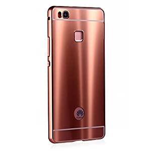huawei p9 rose gold price. huawei p9 lite case,grandcaser neo hybrid aluminum metal bumper + bright colorful back panel protective cover case for (2016) - rose gold price