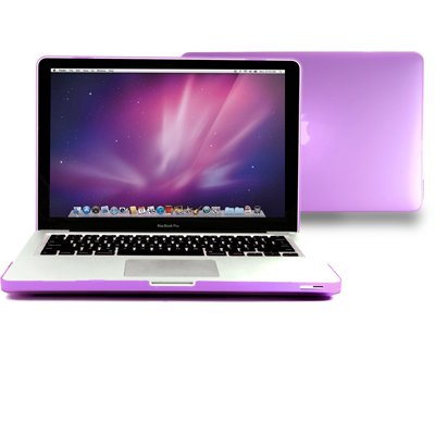 GMYLE (R) Purple Frosted Matte Rubber Coated See Thru Hard Shell Clip Snap On Case Skin Cover for Apple 13.3″ inches Macbook Pro Aluminum Unibody, Best Gadgets